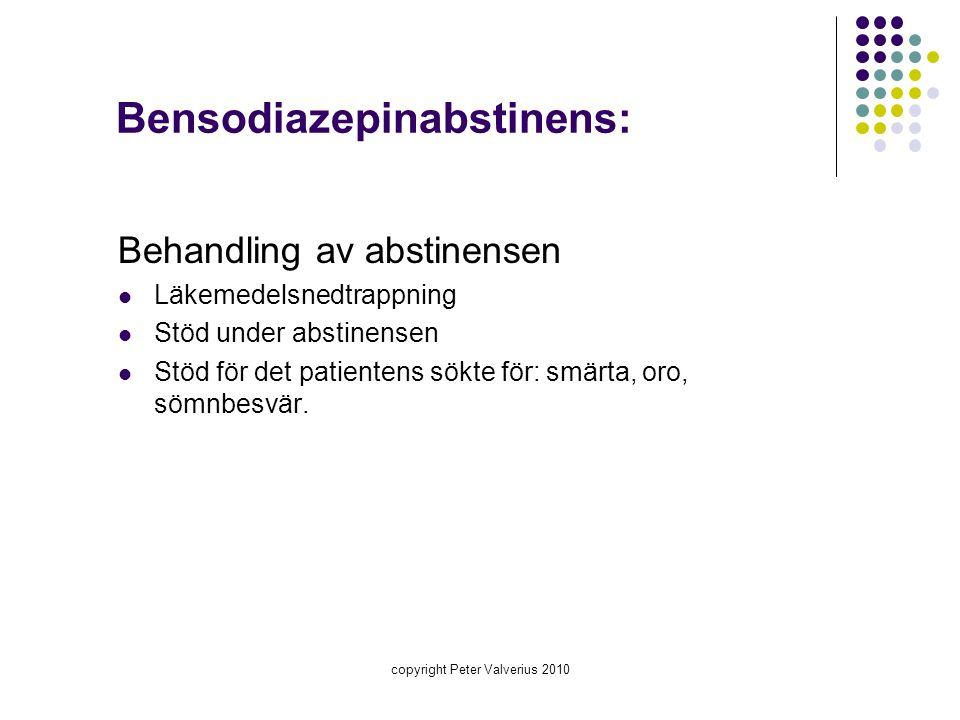 Bensodiazepinabstinens: