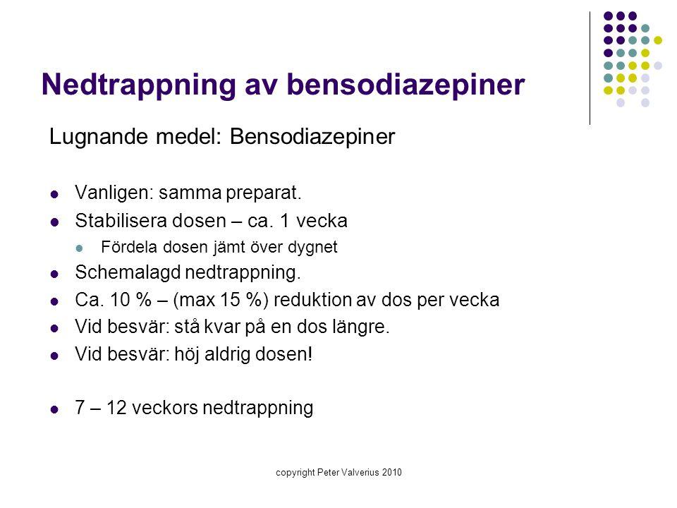 Nedtrappning av bensodiazepiner