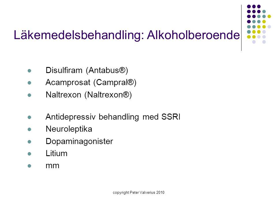 Läkemedelsbehandling: Alkoholberoende