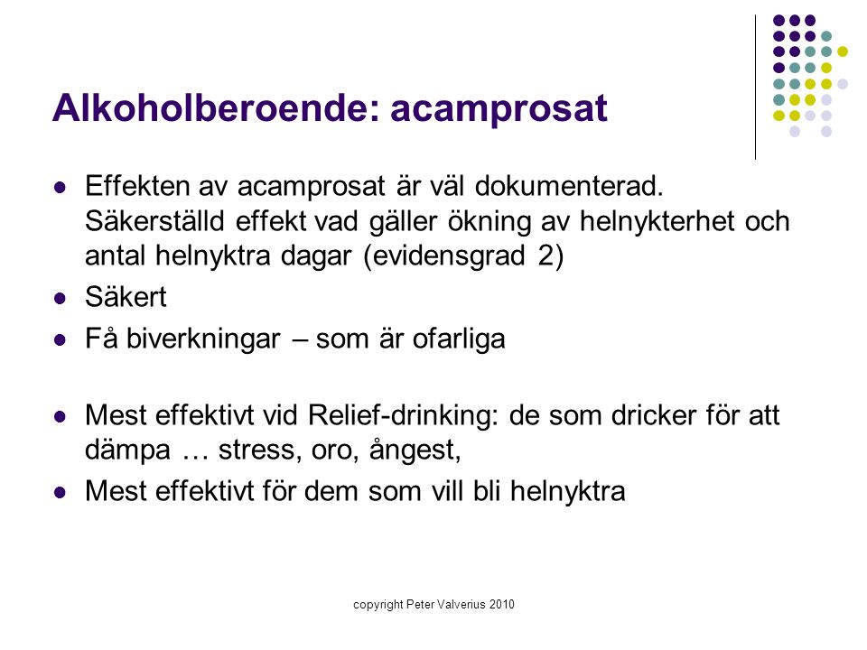 Alkoholberoende: acamprosat