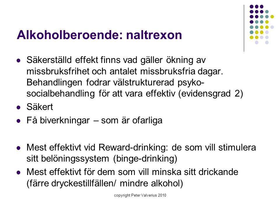 Alkoholberoende: naltrexon