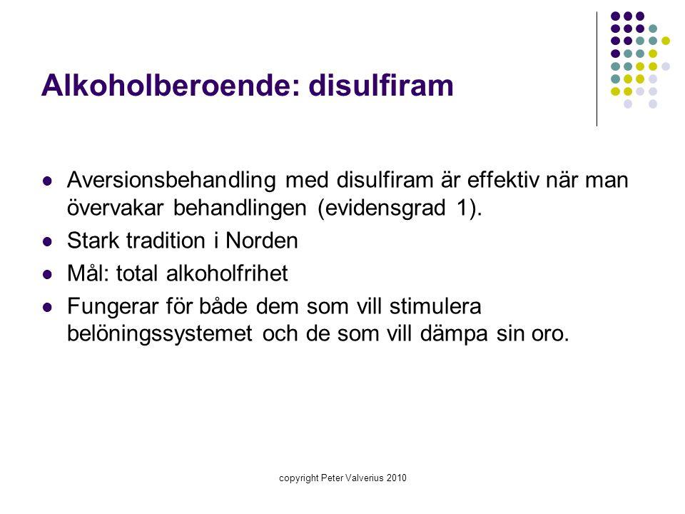 Alkoholberoende: disulfiram