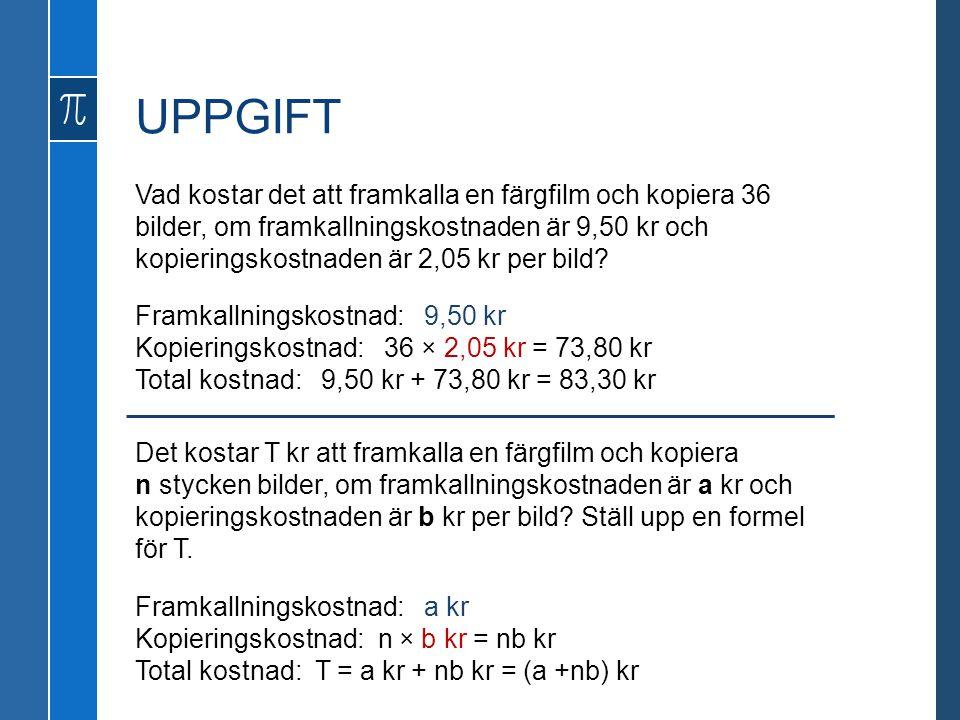 UPPGIFT