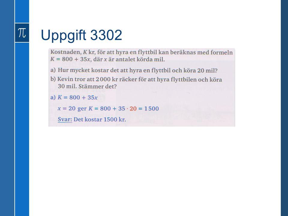 Uppgift 3302