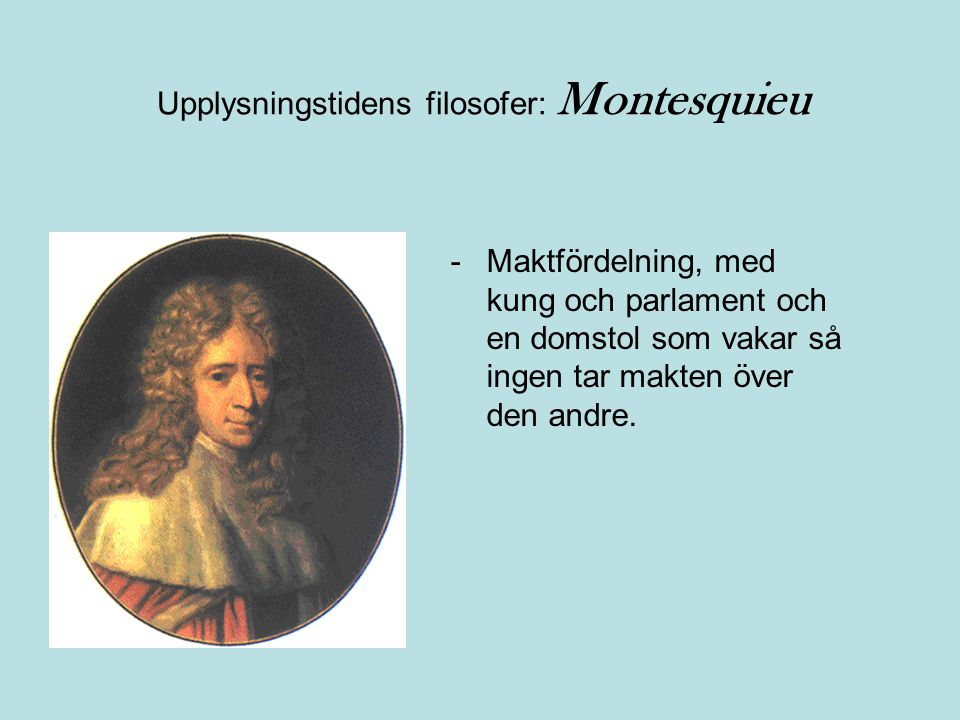 Upplysningstidens filosofer: Montesquieu