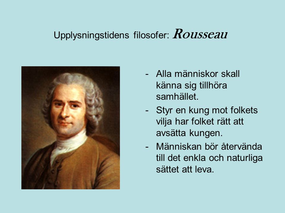 Upplysningstidens filosofer: Rousseau