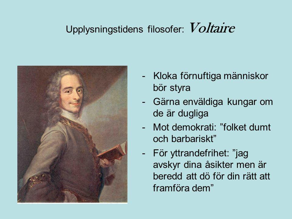 Upplysningstidens filosofer: Voltaire