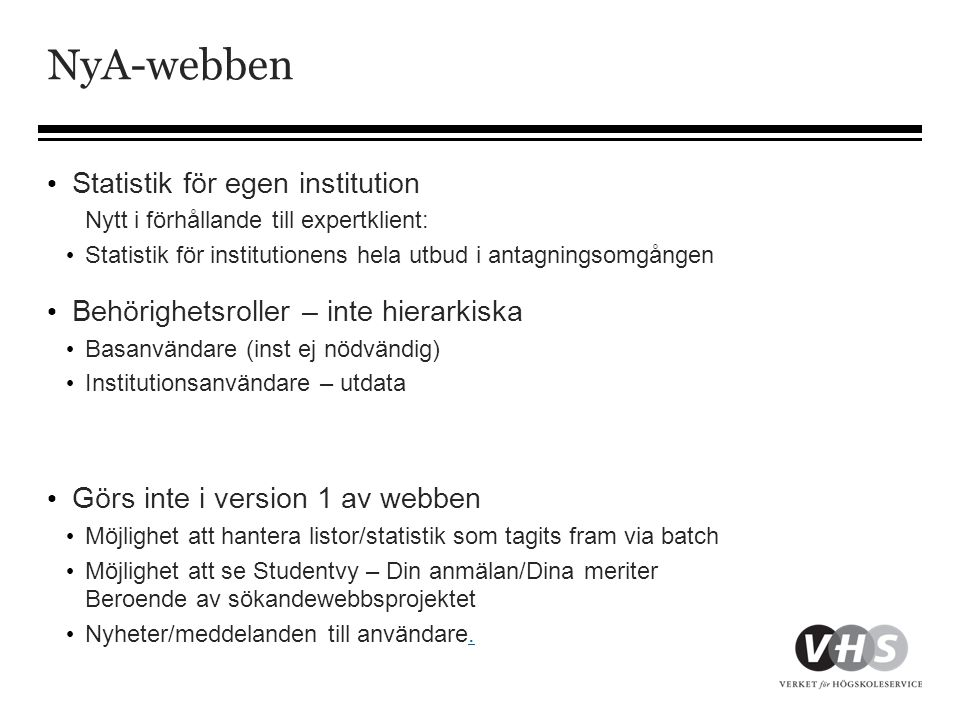 NyA-webben Statistik för egen institution