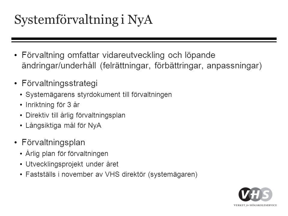 Systemförvaltning i NyA