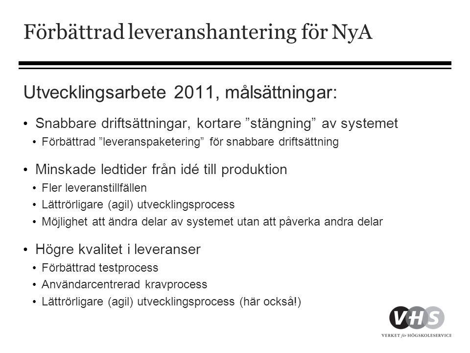 Förbättrad leveranshantering för NyA