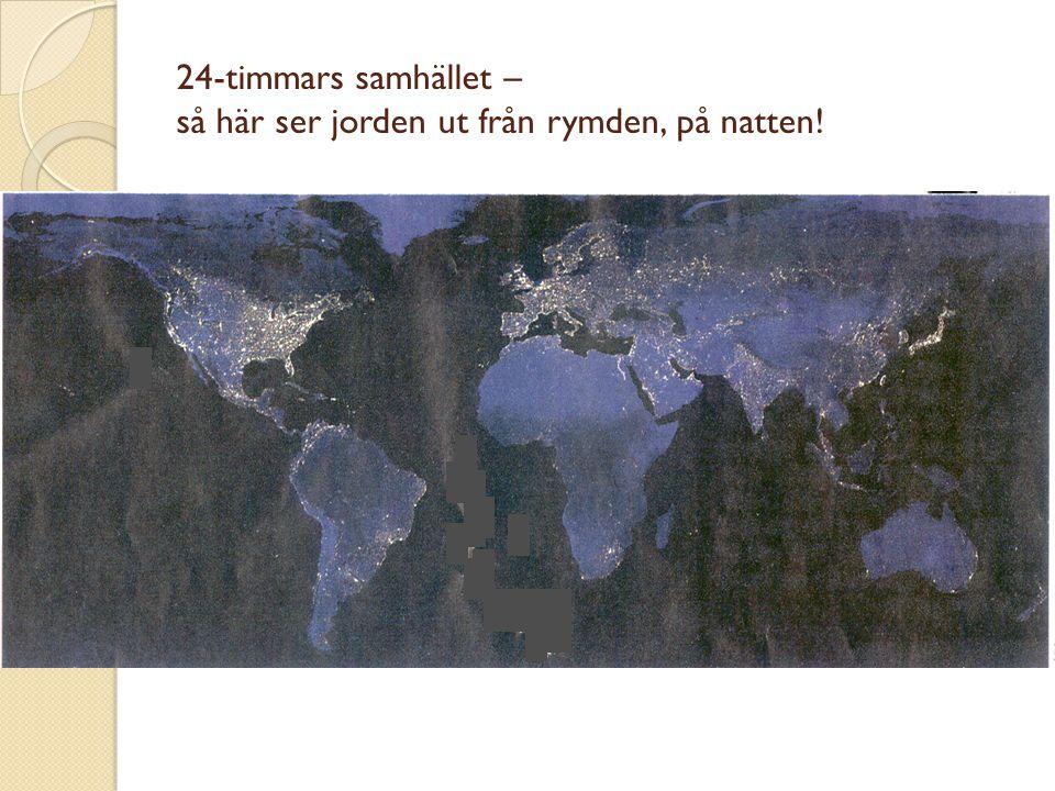 24-timmars samhället – så här ser jorden ut från rymden, på natten!