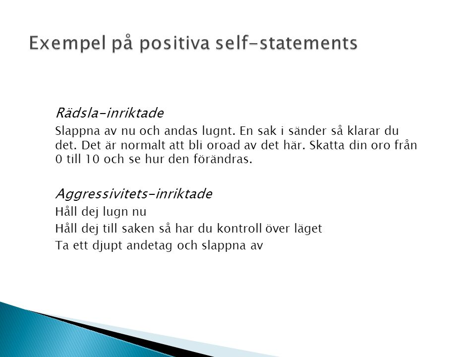 Exempel på positiva self-statements