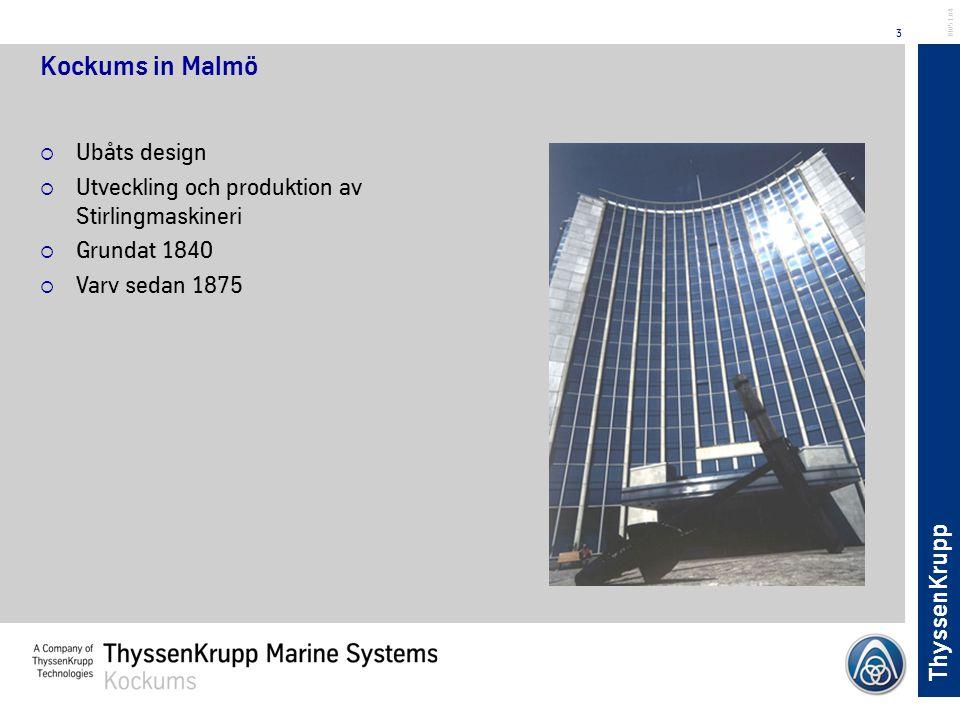 Kockums in Malmö Ubåts design
