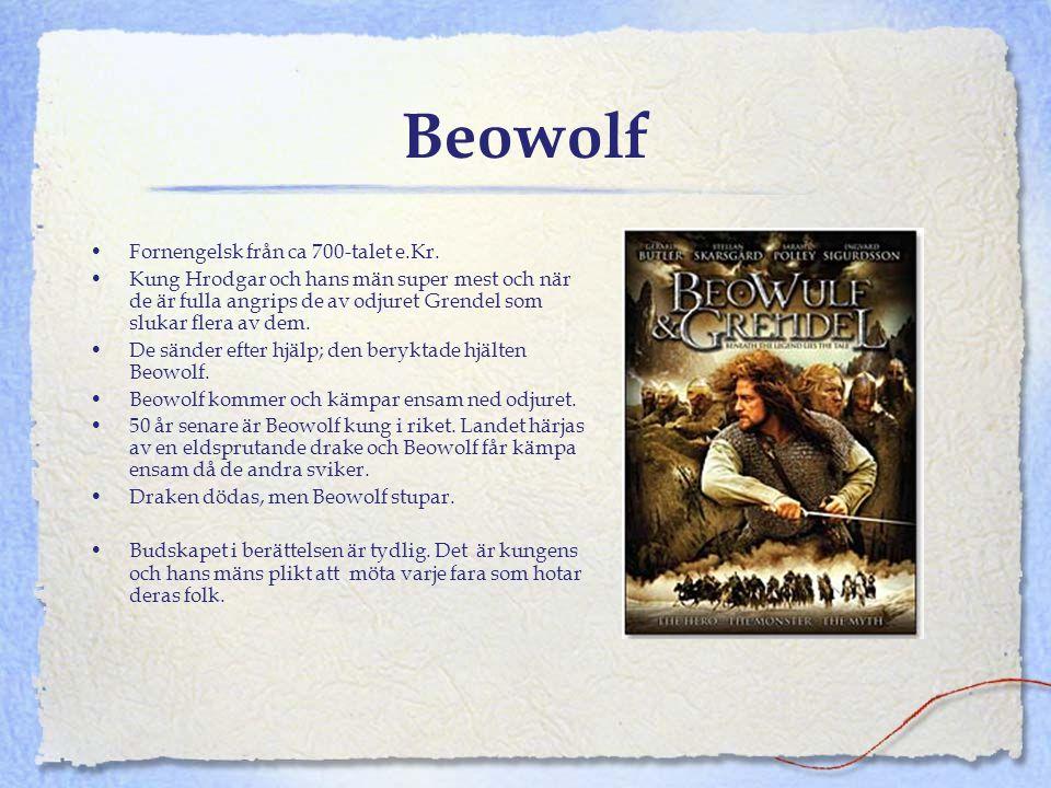 Beowolf Fornengelsk från ca 700-talet e.Kr.