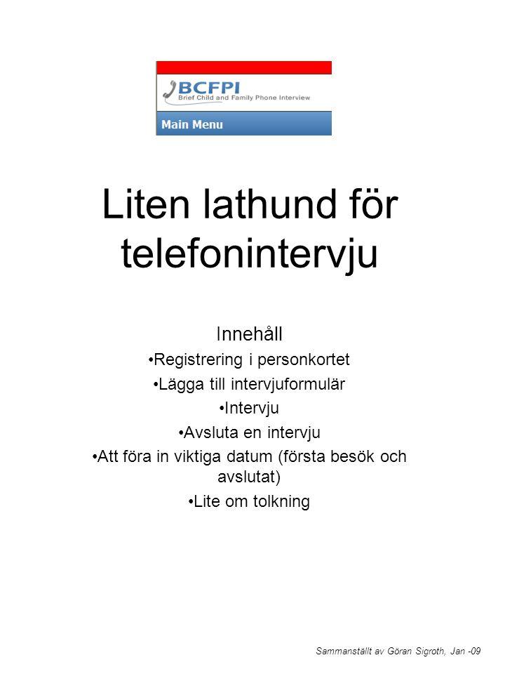 Liten lathund för telefonintervju