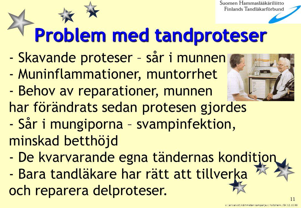 Problem med tandproteser
