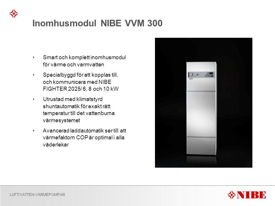 Inomhusmodul NIBE VVM 300 Smart och komplett inomhusmodul för värme och varmvatten.