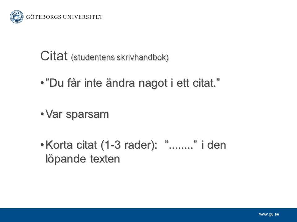 Citat (studentens skrivhandbok)