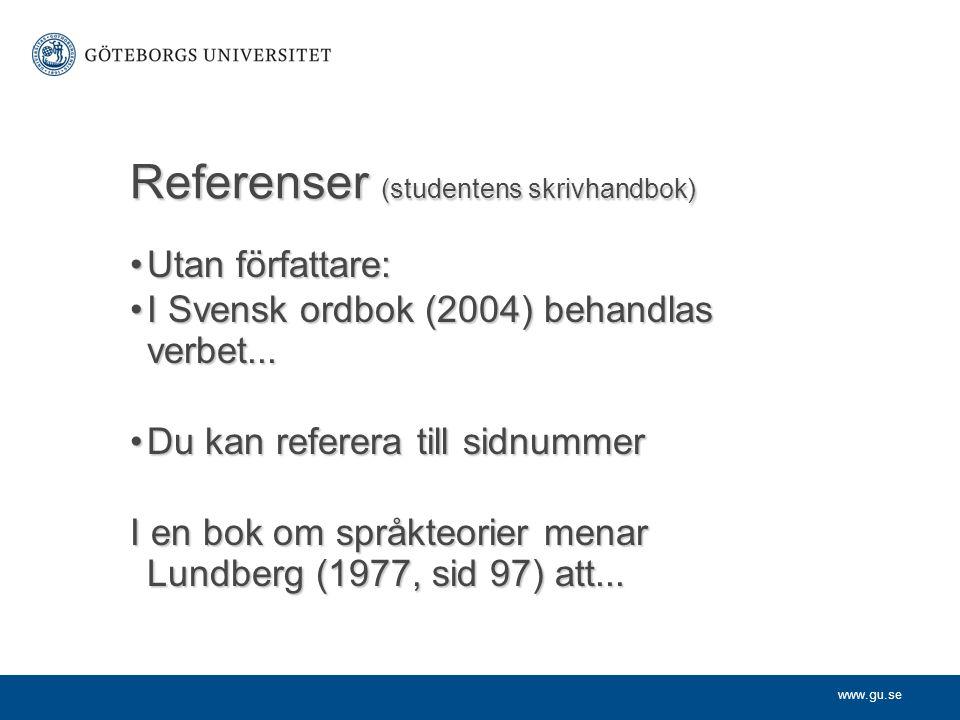 Referenser (studentens skrivhandbok)
