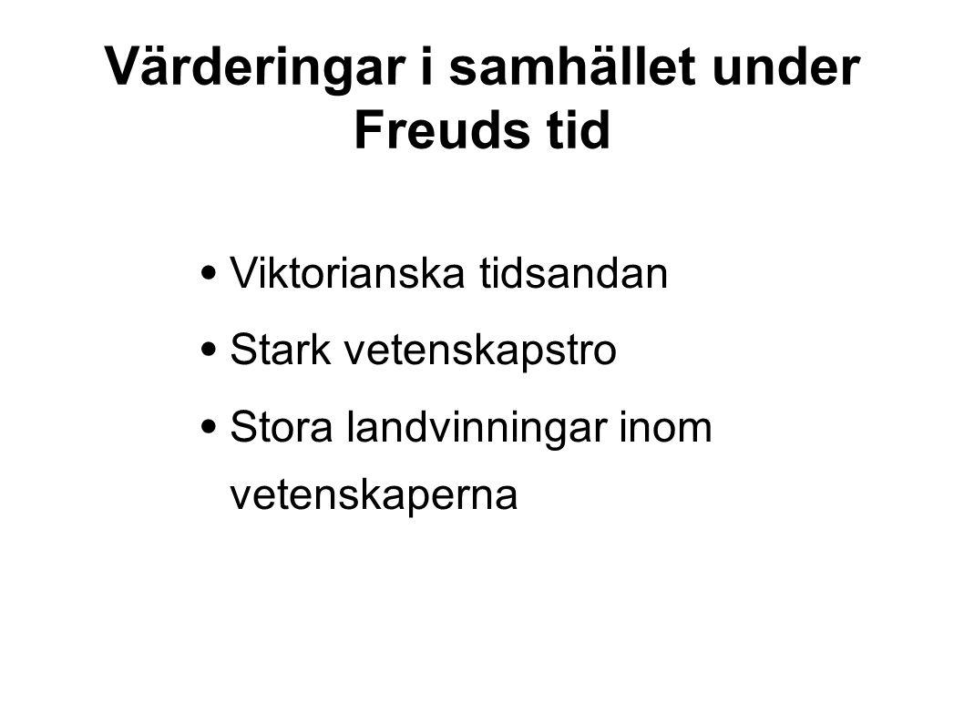 Värderingar i samhället under Freuds tid