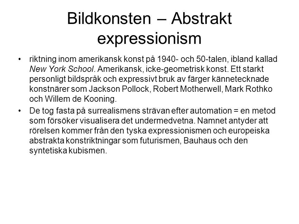 Bildkonsten – Abstrakt expressionism