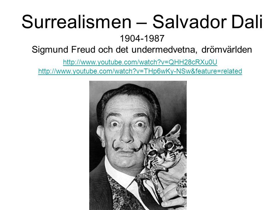 Surrealismen – Salvador Dali 1904-1987 Sigmund Freud och det undermedvetna, drömvärlden