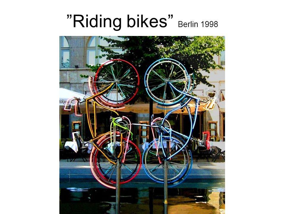 Riding bikes Berlin 1998