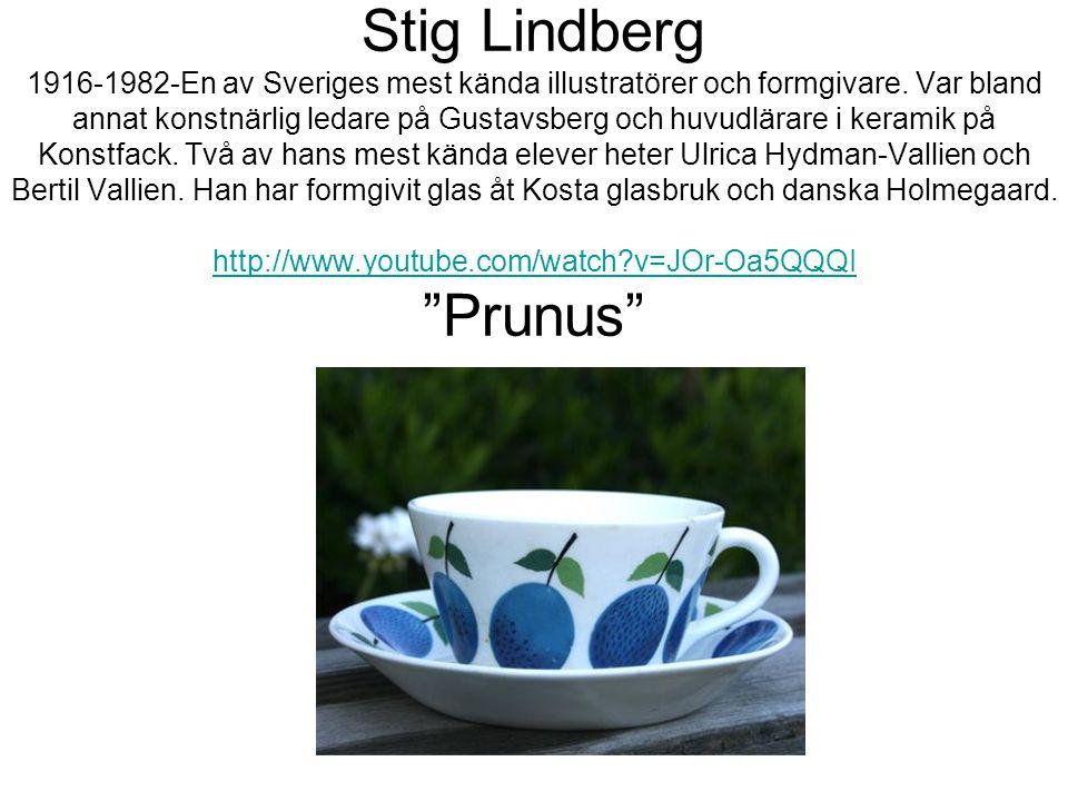 Stig Lindberg 1916-1982-En av Sveriges mest kända illustratörer och formgivare.