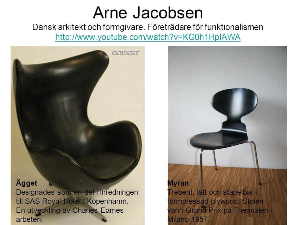 Arne Jacobsen Dansk arkitekt och formgivare