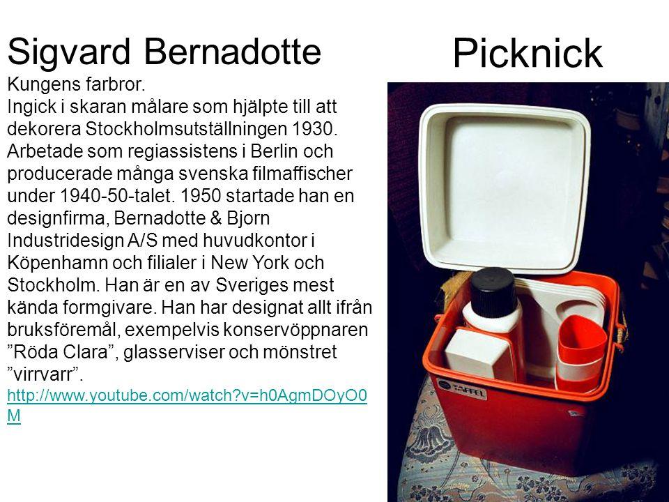 Picknick Sigvard Bernadotte Kungens farbror.