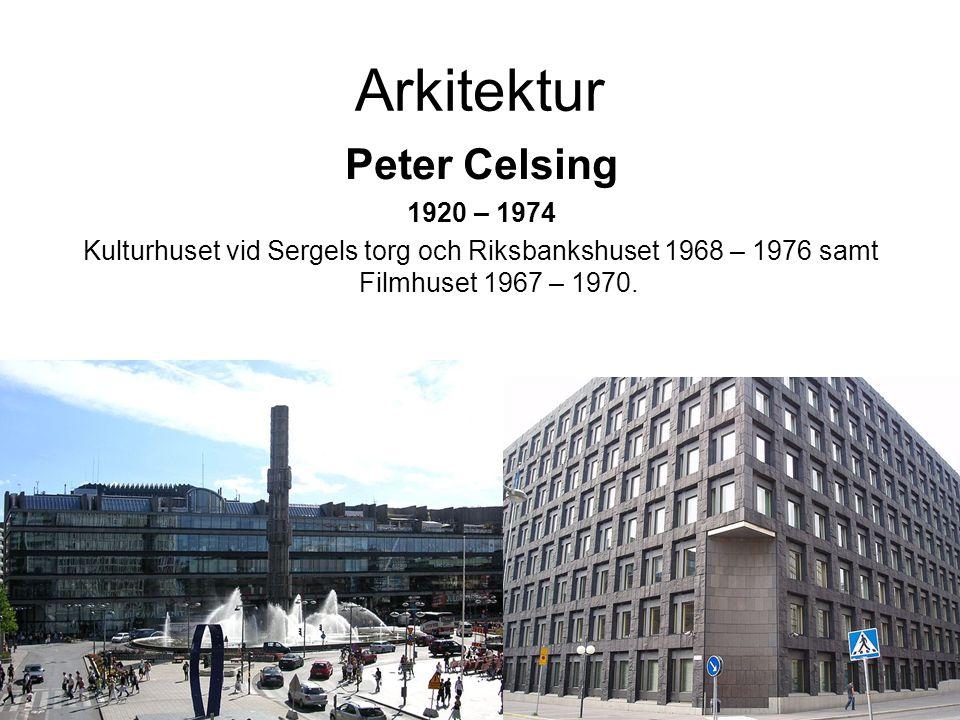Arkitektur Peter Celsing 1920 – 1974