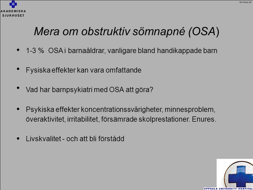 Mera om obstruktiv sömnapné (OSA)