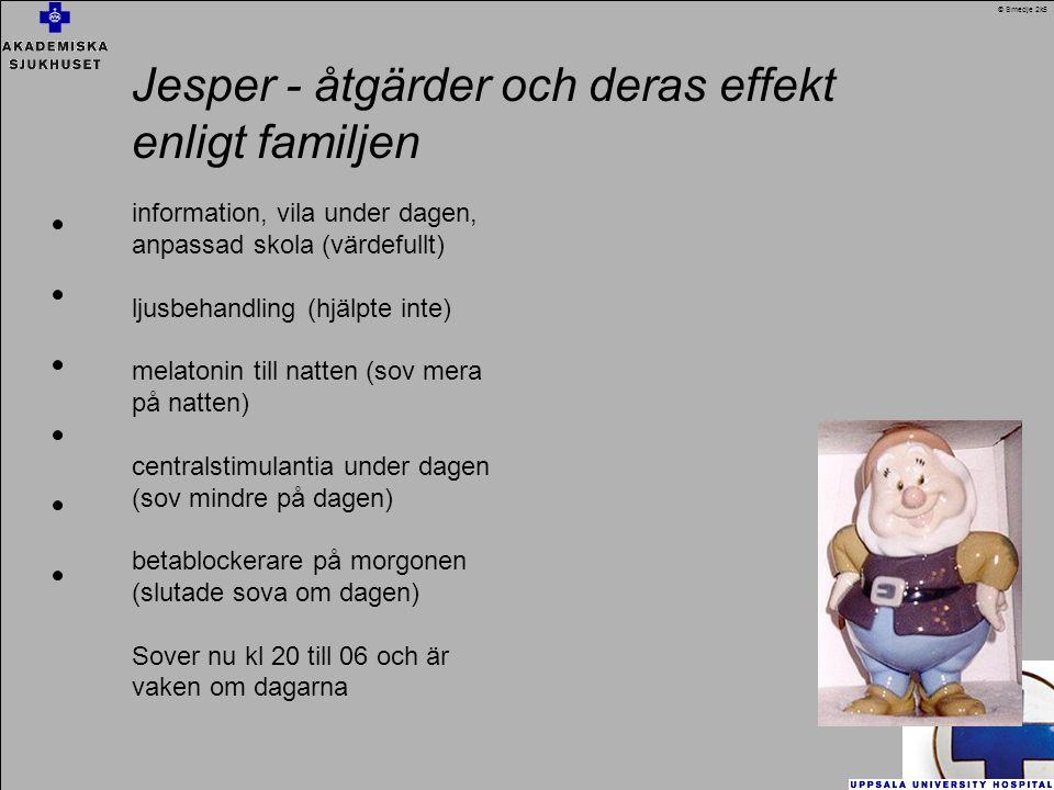 Jesper - åtgärder och deras effekt enligt familjen