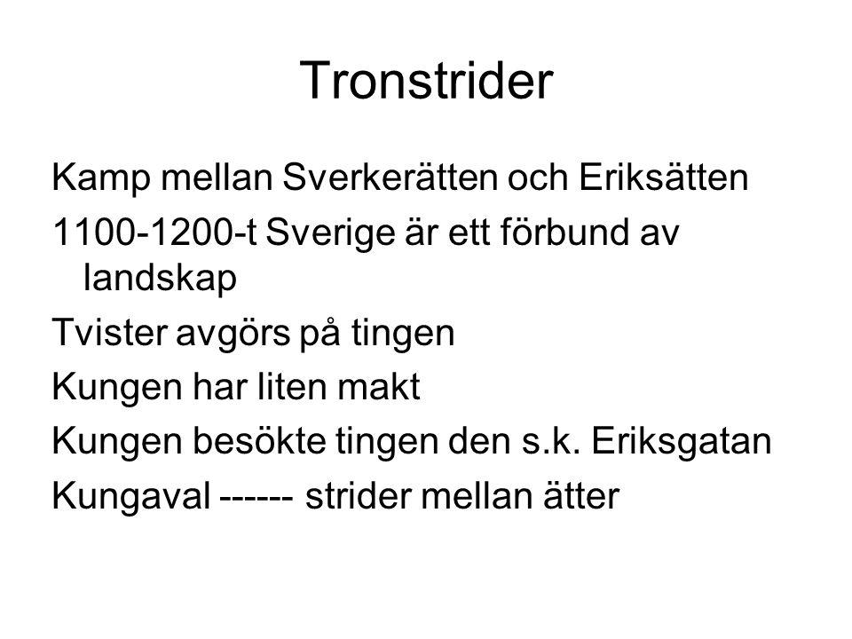 Tronstrider Kamp mellan Sverkerätten och Eriksätten