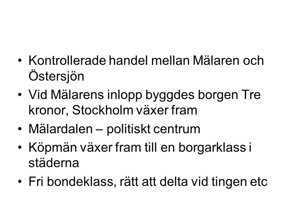 Kontrollerade handel mellan Mälaren och Östersjön