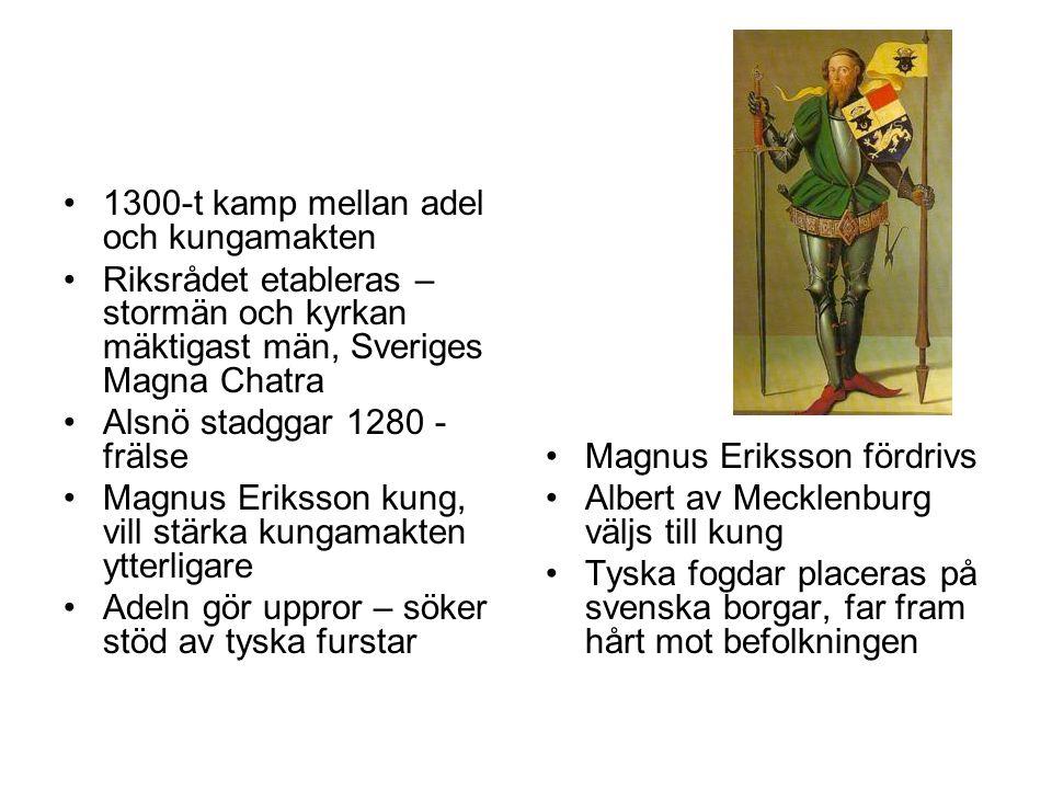 1300-t kamp mellan adel och kungamakten