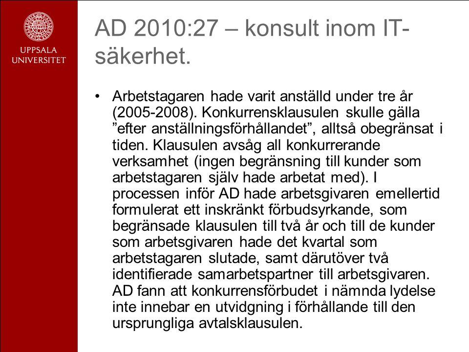 AD 2010:27 – konsult inom IT-säkerhet.