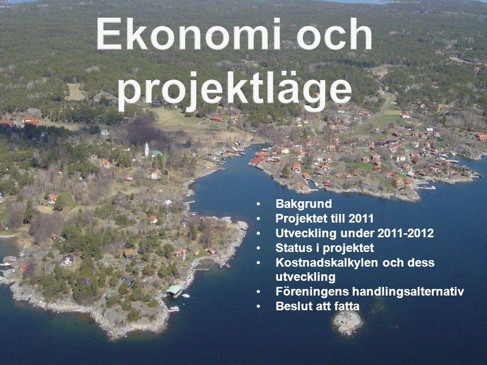 Ekonomi och projektläge
