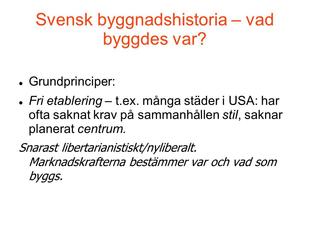 Svensk byggnadshistoria – vad byggdes var