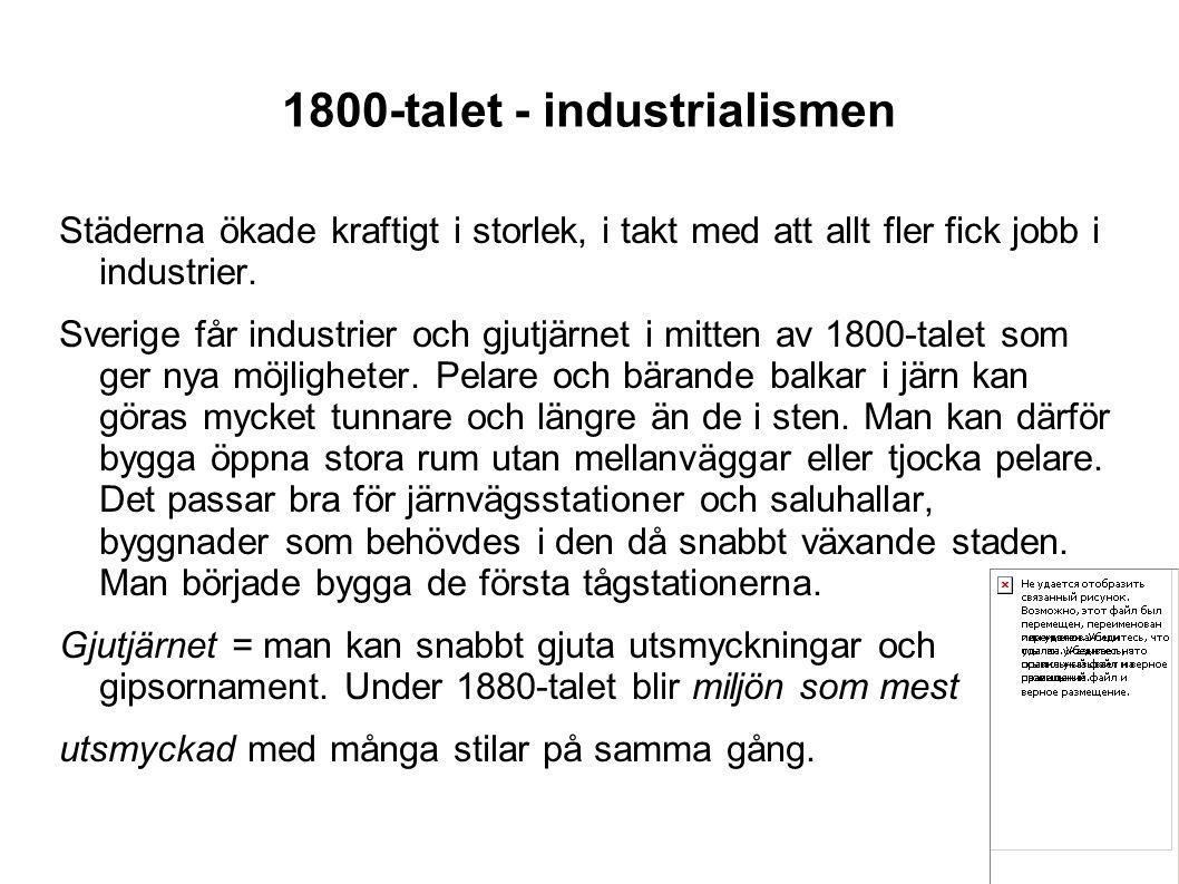 1800-talet - industrialismen