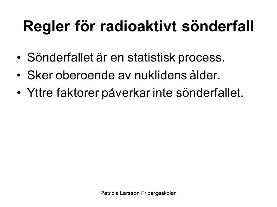 Regler för radioaktivt sönderfall