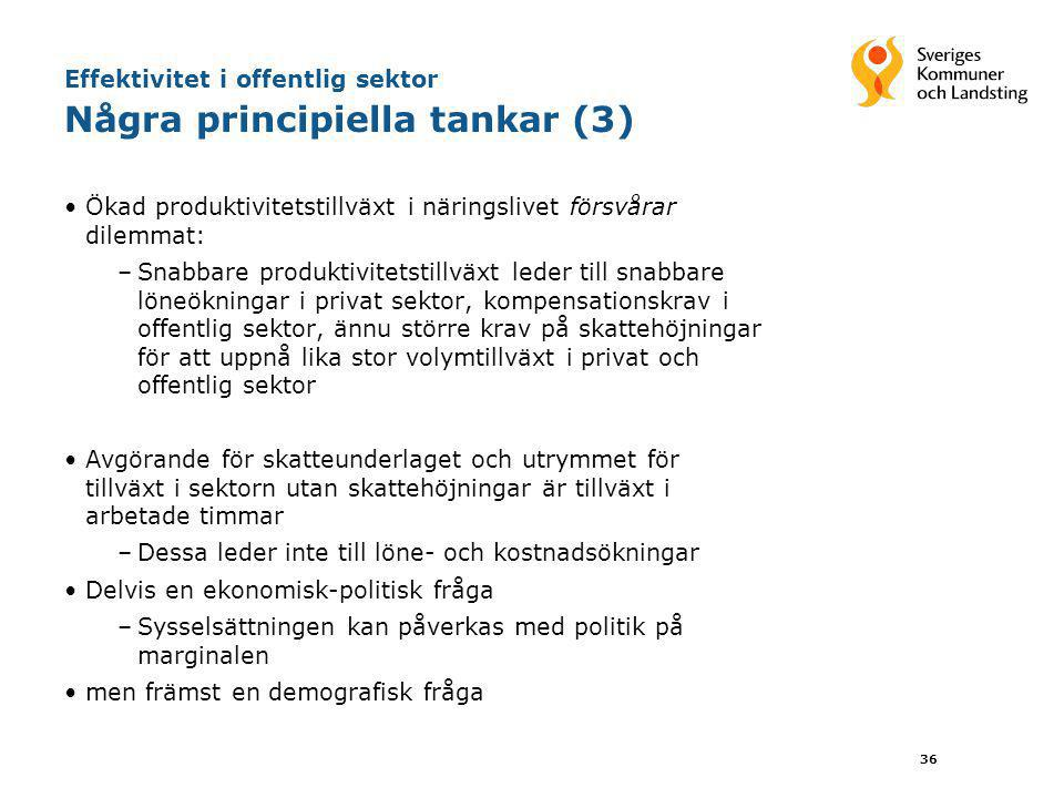 Effektivitet i offentlig sektor Några principiella tankar (3)