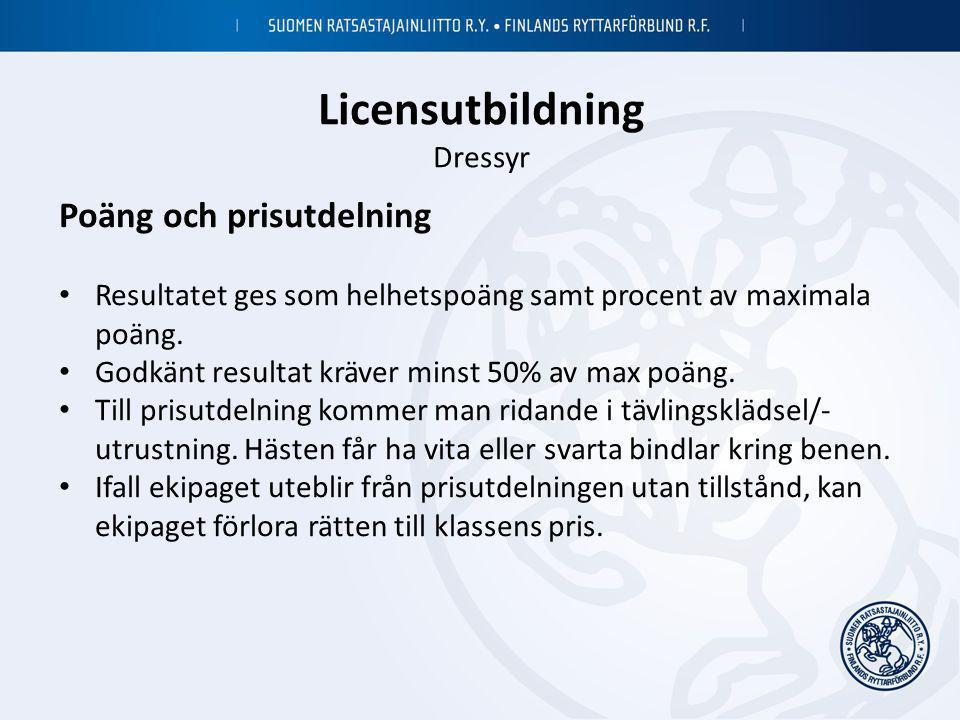 Licensutbildning Dressyr