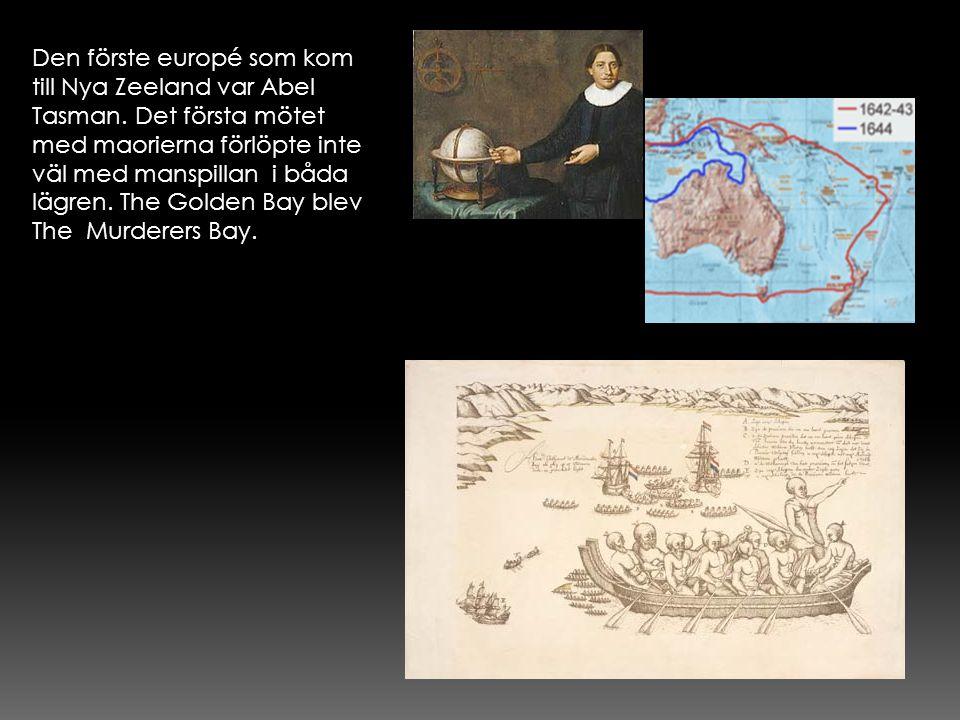 Den förste europé som kom till Nya Zeeland var Abel Tasman