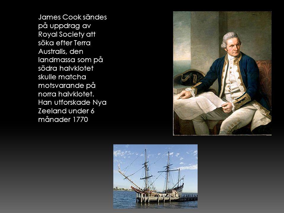 James Cook sändes på uppdrag av Royal Society att söka efter Terra Australis, den landmassa som på södra halvklotet skulle matcha motsvarande på norra halvklotet.