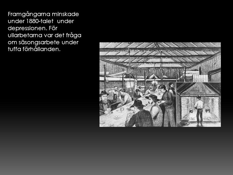 Framgångarna minskade under 1880-talet under depressionen