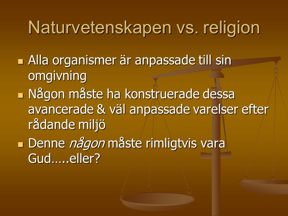 Naturvetenskapen vs. religion