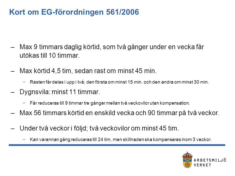 Kort om EG-förordningen 561/2006