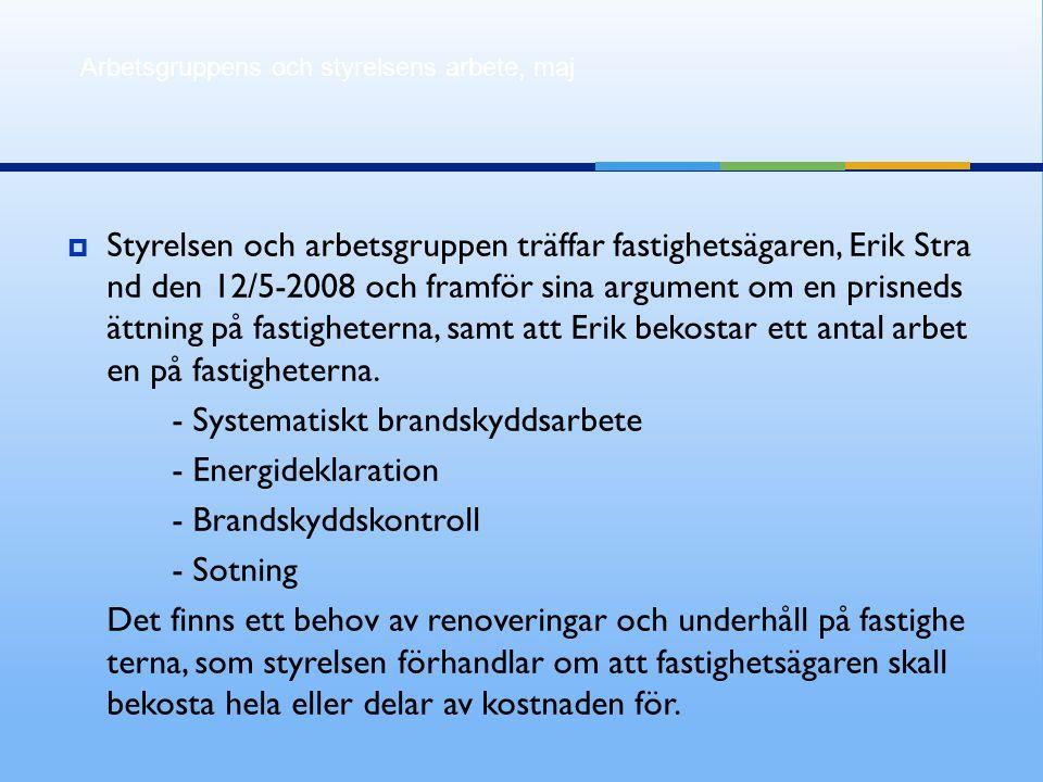 - Systematiskt brandskyddsarbete - Energideklaration
