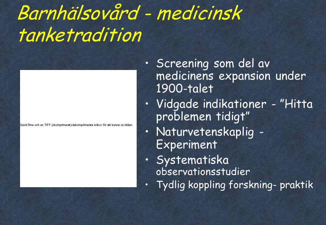 Barnhälsovård - medicinsk tanketradition